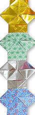 おりがみくらぶ(新宮文明)さんによるやっこつづりの折り紙
