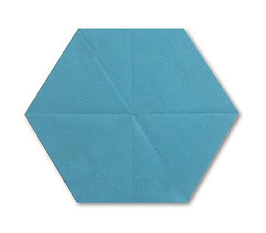 おりがみくらぶ(新宮文明)さんによるろくかくけいの折り紙