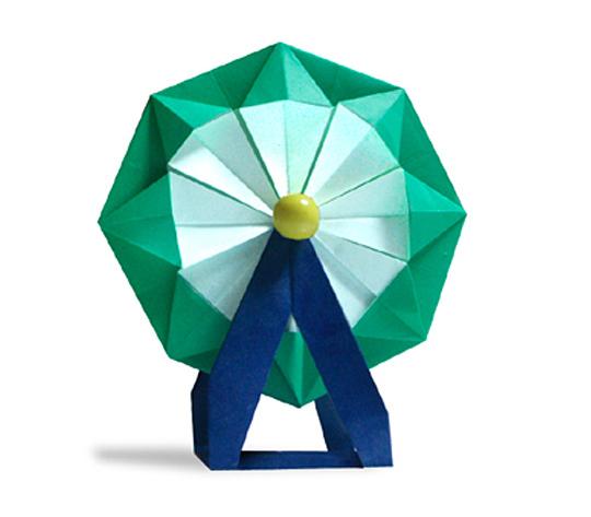 おりがみくらぶ(新宮文明)さんによるかんらんしゃの折り紙