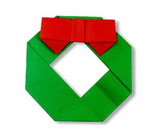 おりがみくらぶ(新宮文明)さんによるりーすの折り紙