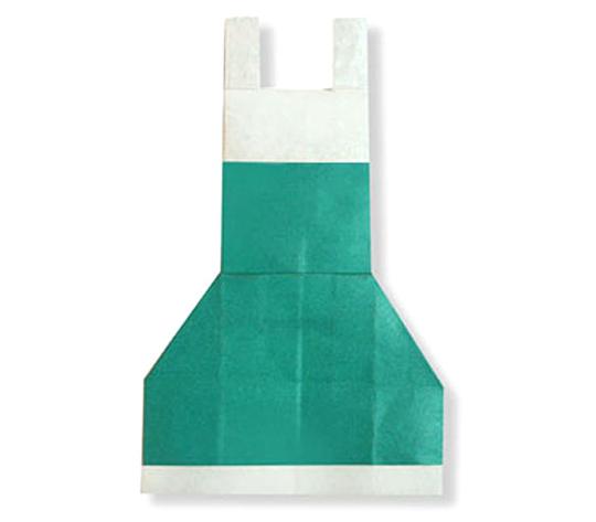 おりがみくらぶ(新宮文明)さんによるえぷろんの折り紙