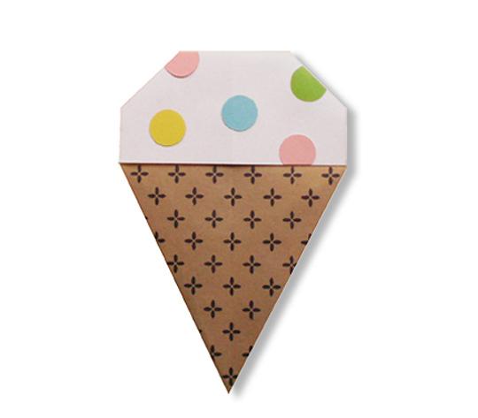 おりがみくらぶ(新宮文明)さんによるあいすくりーむ3の折り紙