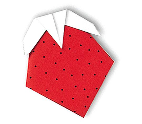おりがみくらぶ(新宮文明)さんによるいちごの折り紙
