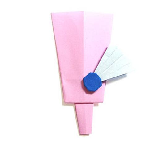 おりがみくらぶ(新宮文明)さんによるはごいたの折り紙