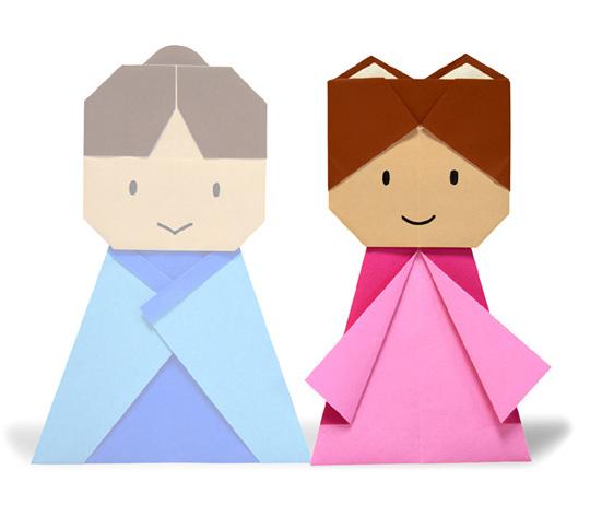 おりがみくらぶ(新宮文明)さんによるおりひめ2の折り紙