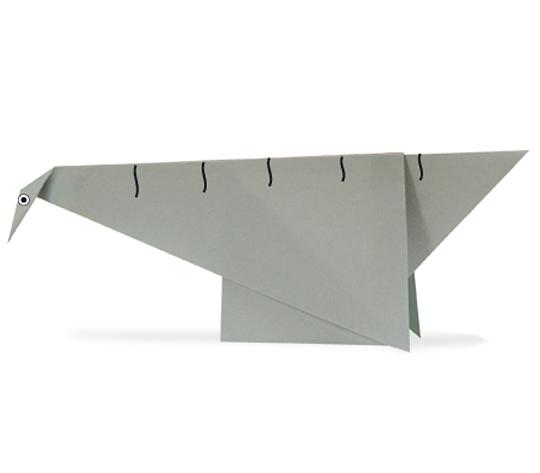 おりがみくらぶ(新宮文明)さんによるせいすもさうるすの折り紙