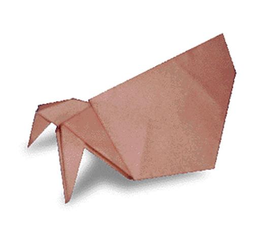 おりがみくらぶ(新宮文明)さんによるやどかりの折り紙