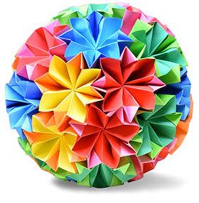 オリカタ公式さんによる《伝承》くす玉1の折り紙