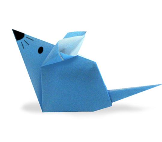 おりがみくらぶ(新宮文明)さんによるねずみ2の折り紙