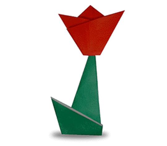 おりがみくらぶ(新宮文明)さんによるちゅーりっぷの折り紙