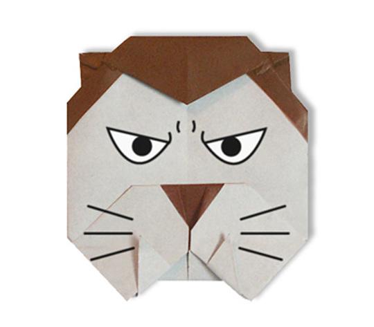 おりがみくらぶ(新宮文明)さんによるおおかみ男の折り紙