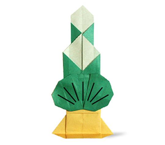 おりがみくらぶ(新宮文明)さんによるかどまつの折り紙