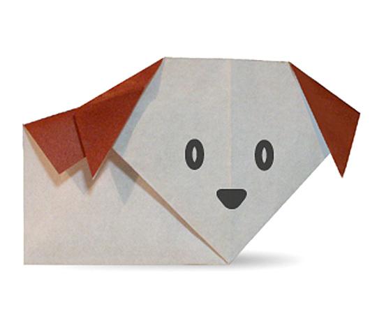 おりがみくらぶ(新宮文明)さんによるいぬの折り紙