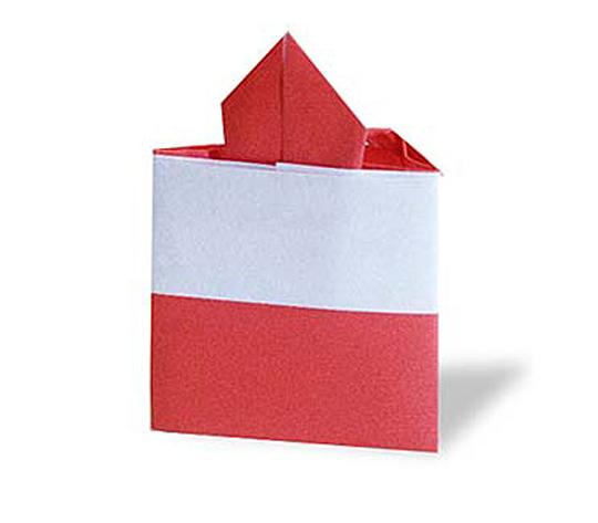 おりがみくらぶ(新宮文明)さんによるいちごけーきの折り紙