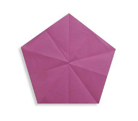 おりがみくらぶ(新宮文明)さんによるごかくけいの折り紙