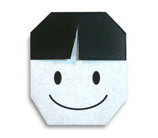 おりがみくらぶ(新宮文明)さんによるおとこのこの折り紙