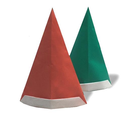 おりがみくらぶ(新宮文明)さんによるさんたのぼうしの折り紙