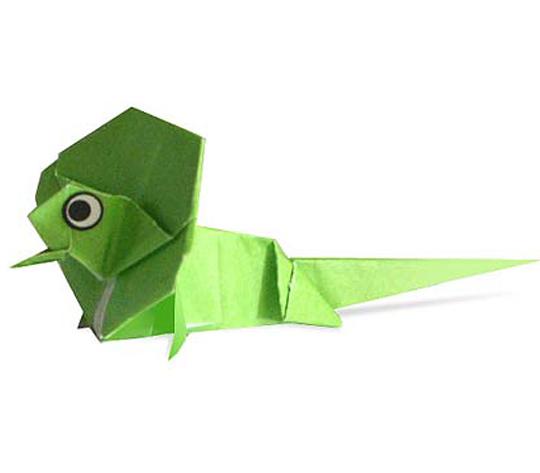 おりがみくらぶ(新宮文明)さんによるえりまきとかげの折り紙