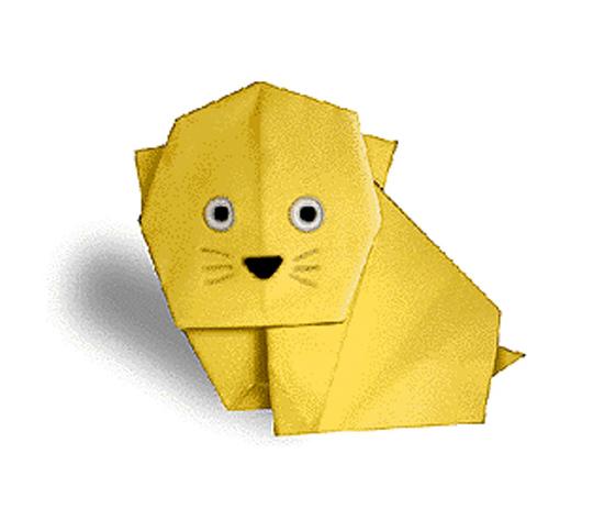 おりがみくらぶ(新宮文明)さんによるこねこの折り紙