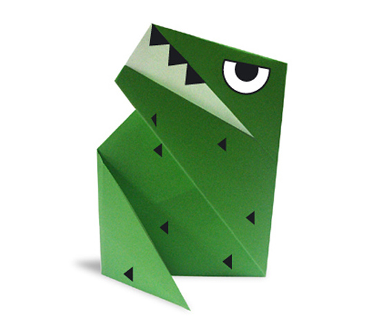 おりがみくらぶ(新宮文明)さんによるていらのさうるすの折り紙