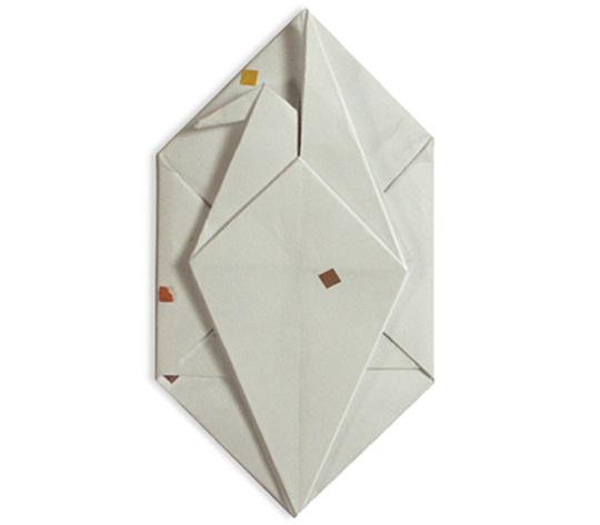 おりがみくらぶ(新宮文明)さんによるおりがみてがみ つるの折り紙