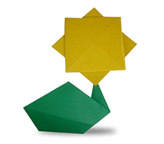 おりがみくらぶ(新宮文明)さんによるひまわりの折り紙