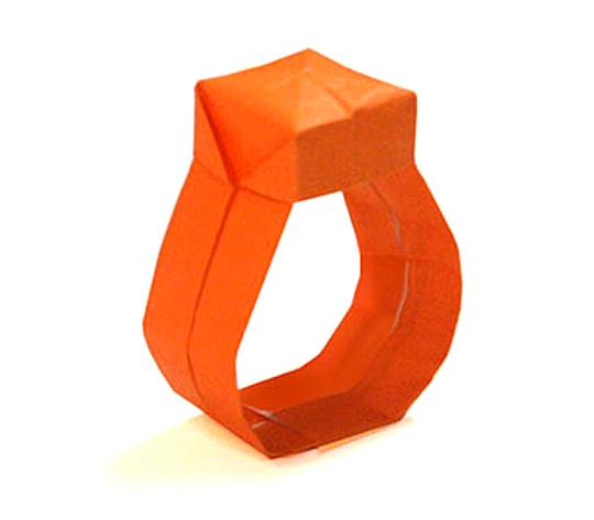 おりがみくらぶ(新宮文明)さんによるゆびわ 2の折り紙