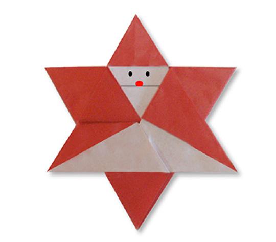 おりがみくらぶ(新宮文明)さんによるさんたぼしの折り紙