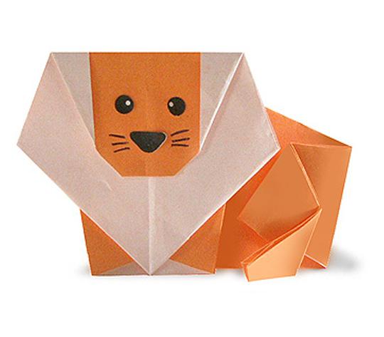おりがみくらぶ(新宮文明)さんによるらいおんの折り紙
