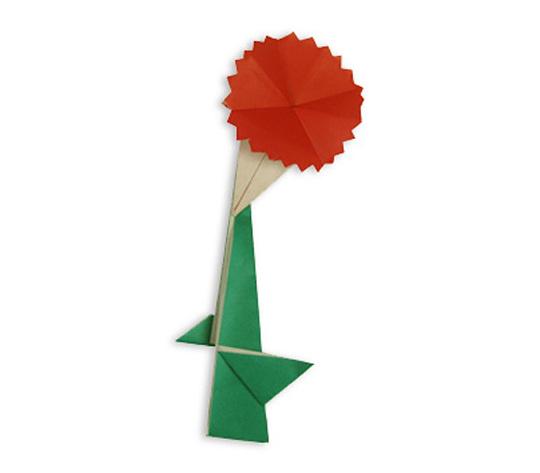 おりがみくらぶ(新宮文明)さんによるかーねーしょんの折り紙