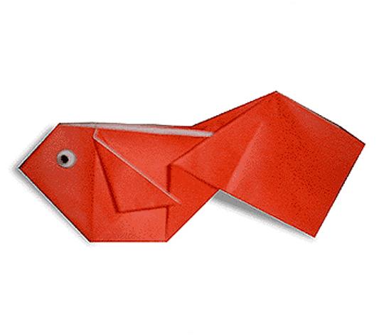 おりがみくらぶ(新宮文明)さんによるきんぎょの折り紙
