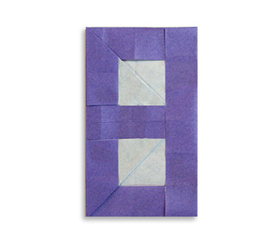 おりがみくらぶ(新宮文明)さんによる8(はち)の折り紙
