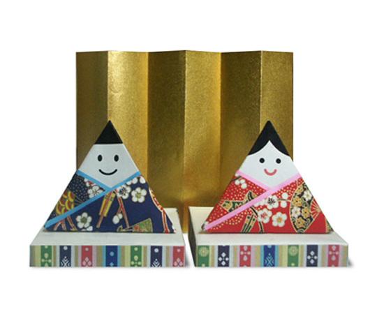 おりがみくらぶ(新宮文明)さんによるひな人形4の折り紙