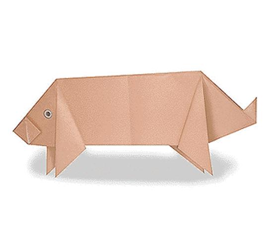 おりがみくらぶ(新宮文明)さんによるぶたの折り紙