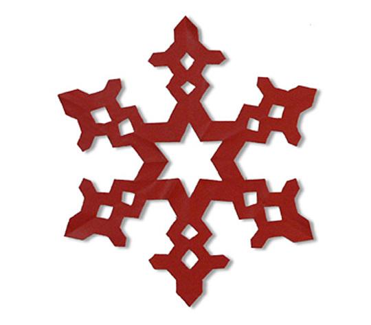 おりがみくらぶ(新宮文明)さんによるゆきのけっしょう3の折り紙