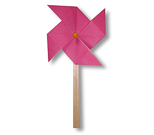 オリカタ公式さんによる【伝承】風車(かざぐるま)の折り紙