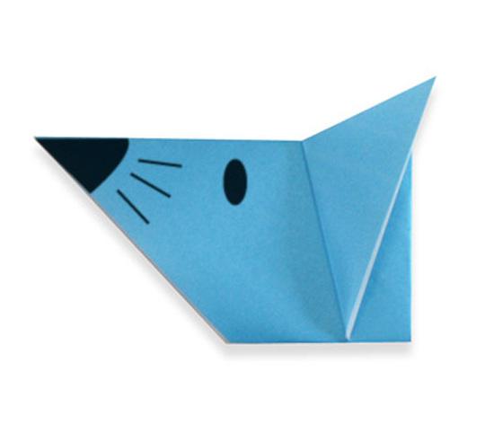 おりがみくらぶ(新宮文明)さんによるねずみのかおの折り紙