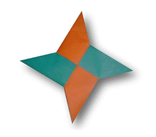 オリカタ公式さんによる【伝承】手裏剣の折り紙