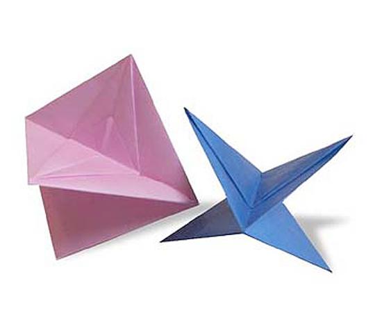 おりがみくらぶ(新宮文明)さんによるふきごまの折り紙