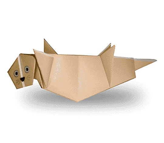 おりがみくらぶ(新宮文明)さんによるらっこの折り紙