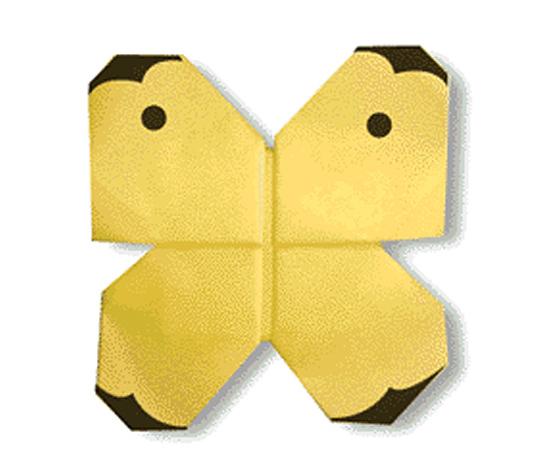 おりがみくらぶ(新宮文明)さんによるもんしろちょうの折り紙