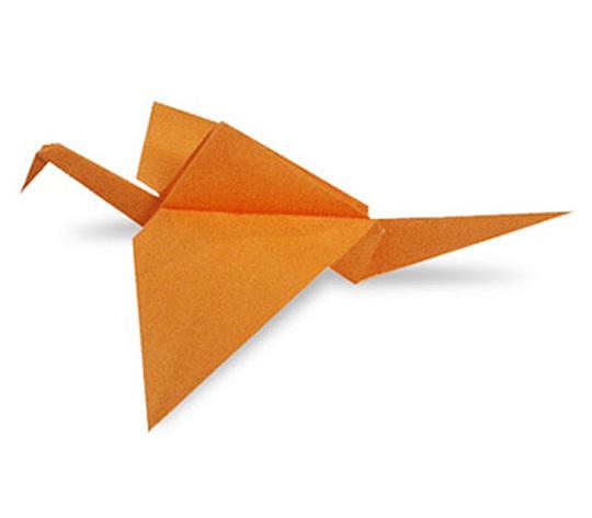 オリカタ公式さんによる【伝承】はばたくとりの折り紙