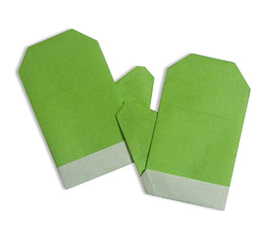 おりがみくらぶ(新宮文明)さんによるてぶくろの折り紙
