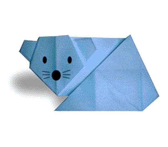 おりがみくらぶ(新宮文明)さんによるねずみの折り紙