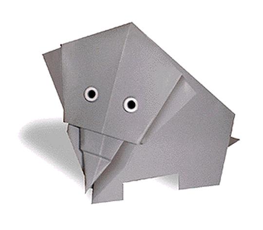 おりがみくらぶ(新宮文明)さんによるぞうの折り紙