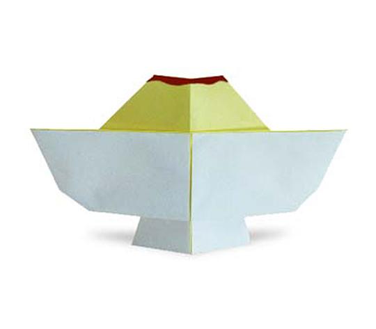 おりがみくらぶ(新宮文明)さんによるぷりんの折り紙