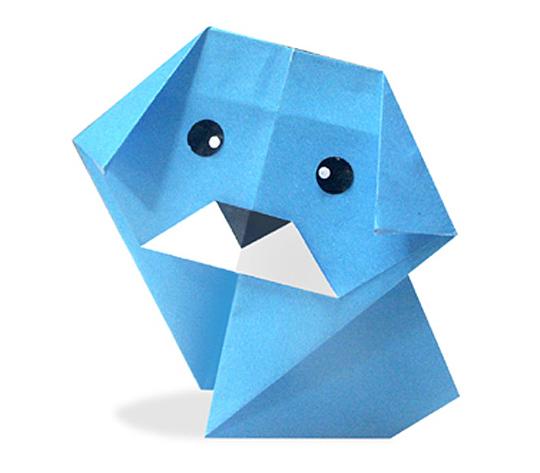 おりがみくらぶ(新宮文明)さんによるいぬ3の折り紙