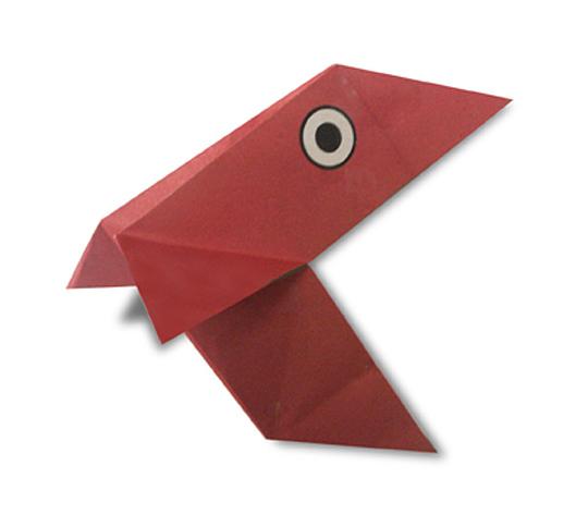 おりがみくらぶ(新宮文明)さんによるぱっくんの折り紙