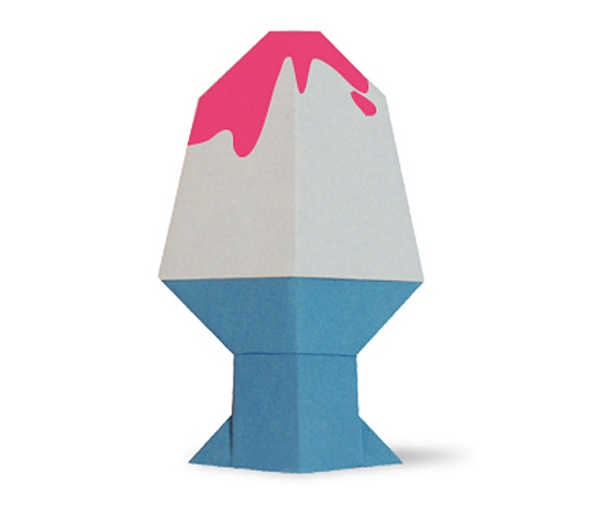 おりがみくらぶ(新宮文明)さんによるかきごおりの折り紙