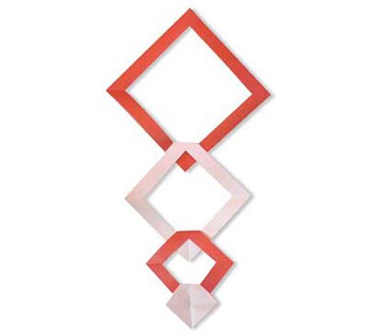 おりがみくらぶ(新宮文明)さんによるひしがたかいだんの折り紙